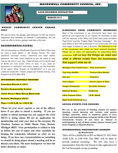 MCCI March 2013 Newsletter